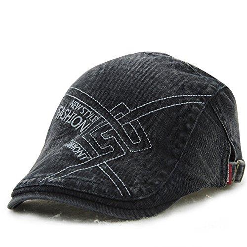 wopiaol Hut Frühling Neue lässige Kappen Männer Baumwolle Stickerei mittleren Alters europäischen und amerikanischen Barett Maler Hut
