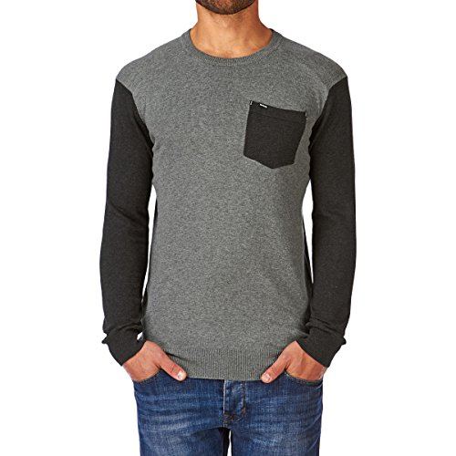 Hurley Roasted Crew Pull-Over pour Homme Large Gris - Heather Concrete