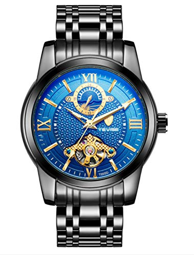 MLHXHX Reloj de hombre de gama alta Tourbillon reloj mecánico automático impermeable luminoso reloj negro