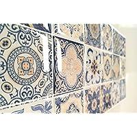 Azulejos Adhesivos con Relieve. Pack de 8 Unidades. Medida Exclusiva en Amazon. Tambien se Puede Utilizar como cenefas para Cocina