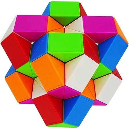 iLink Magic Snake 48 segmenti Puzzle-Serpente Magico Cubo Puzzle-Giocattoli del Serpente di -Bomboniere per Feste di Compleanno per Bambini(Arcobaleno*1)