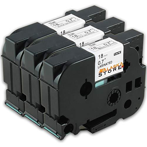 schwarz-weiß TZE-241 18mm Schriftband-Kassette für Brother wie TZ-241