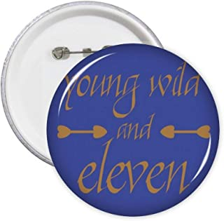 Onze Young Wild Numbers Pins Badge Badge Badge Accessoire Décoration 5 pièces