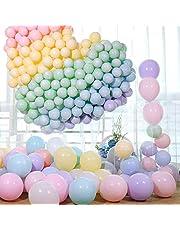 Pastellballonger, partypastellballonger 100 st 25,4 cm macaron godisfärgade latexballonger, födelsedagsballonger, födelsedagsballonger för flickor, födelsedagsdekorationer för flickor