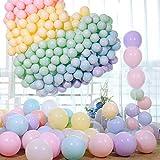 GREMAG Macaron Ballon,Macaron Luftballons,Bunt Luftballons Pastell, Latex Farbige Ballons, Macaron Luftballons für Party Dekorative Ballons,Geburtstag Hochzeit Engagement Baby Dusche