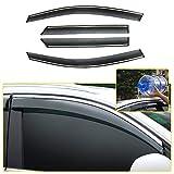 8X-SPEED Deflettori d'Aria Antiturbo per 408 2010-2013 Auto Finestrini Visiera Parasole Deflettore Aria Frangivento e Antipioggia 4 Pezzi