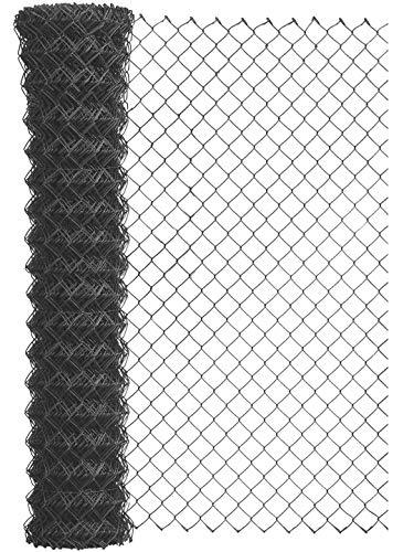 GAH-Alberts 604646 Maschendraht-Geflecht | verschiedene Längen und Höhen - wahlweise in verschiedenen Farben | anthrazit | Höhe 100 cm | Länge 15 m