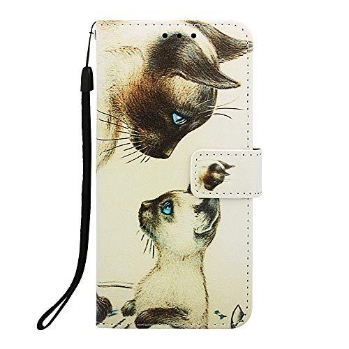 Docrax Handyhülle Lederhülle für iPhone 8 Plus/7 Plus, Flip Case Schutzhülle Hülle mit Standfunktion Kartenfach Magnet Brieftasche für Apple iPhone 8Plus/7Plus - DOYBO450035 D5
