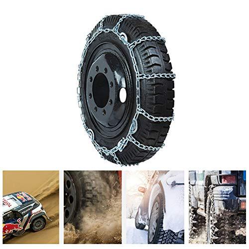 Antideslizante Cadena de nieve *2pcs Portátil Emergencia cadenas de neumáticos  for coche familiar Truck/SUV, etc. (Size : 235/75-15)