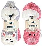 Jane & Bleecker Ladies' Critter Sock, 2-pair, non skid slipper socks...