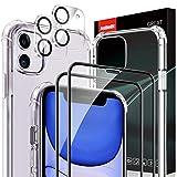 AsBellt Protector Pantalla de iPhone 11 (2*Protector de Pantalla+2*Protector de Cámara +1*Funda) Cristal Vidrio Templado de 3D para iPhone 11 (6.1')