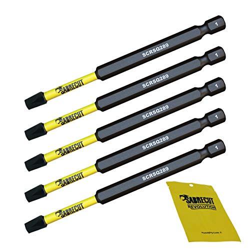 5 x SabreCut SCSQ289_5 89mm SQ2 Magnetischer Schlagschrauber-Bits, Quadratische Quadratischer Antrieb für Dewalt, Milwaukee, Bosch, Makita und mehr