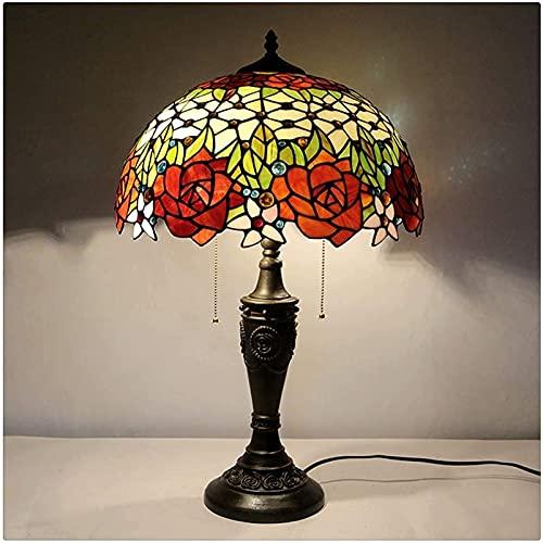 Lampada da tavolo in stile Tiffany Lampada da tavolo a mano in vetro colorato lampada da tavolo anticato per amante del genitore amico ragazzo soggiorno camera da letto caffetteria bar artigianale reg