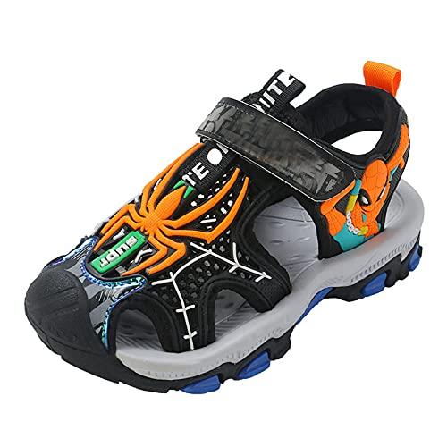MODRYER Niños Sandalias Sandalias Niños Zapatos de Playa Al Aire Libre Zapatos de Playa Zapatillas de Agua Zapatillas de Agua Liviana de Senderismo de Verano,Orange-33/Inner Length 21.2cm