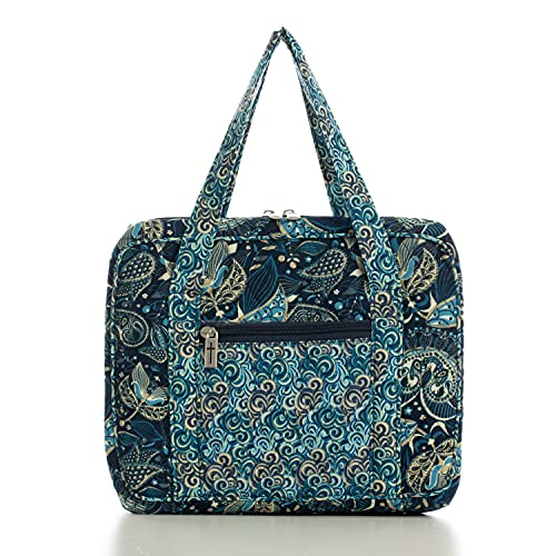 DIWI Quilted Bible Cover Large Sizes 10 X 7 X 2.75 Inches Bible Tote Good Book Case (L, C2 Royal Blue)