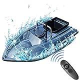 CARACHOME Barco RC, Barco cebador Pesca de 2,4 GHz, Lancha rápida RC con luz LED y cámara de Cebo Juguete de Pesca para Regalos de Pesca Hombres,A