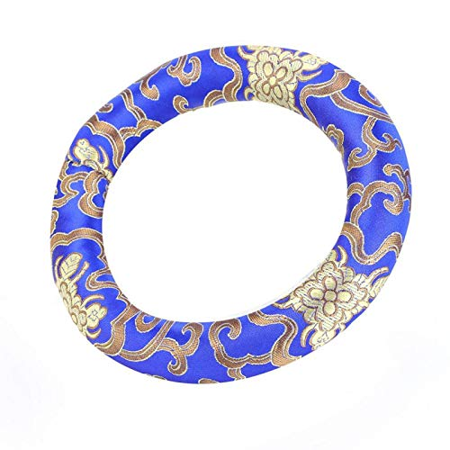 Cojín del Cuenco del Canto Aspecto Elegante y cómodo Almohada del Anillo del Cuenco del Canto para Uso doméstico(Blue)