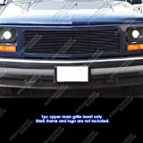 APS Compatible with 94-98 GMC C K Pickup 94-99 Suburban Yukon Single Lights Black Billet Grille Grill G65272H