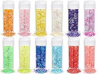 12/18/24 Kleur Shining Glitter Pailletten Epoxy Hars Ambachten Vuller Pigmenten Nail Art Decoraties Vullen