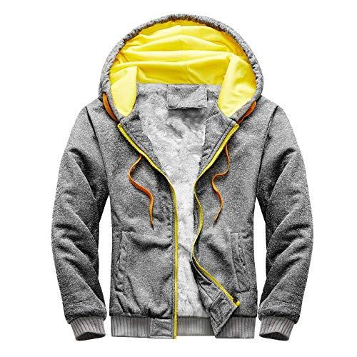 BIBOKAOKE Veste de sport pour homme - Pour le cyclisme et l'alpinisme - Avec capuche - En polaire chaude - Rétro - Veste de sport légère - Veste de baseball, Gris 6., XXL
