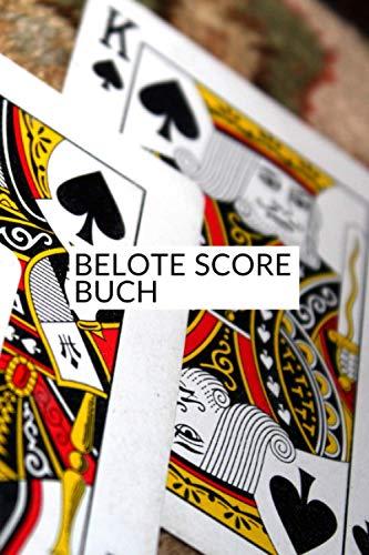 Belote score Buch: Belote Punktzahl   Belote Notizbuch