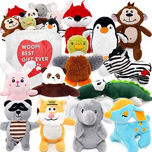SHARLOVY Dog Squeaky Toys for Small Dogs Stuffed Animal Puppy Toys Cute Puppy Chew Toys for product image