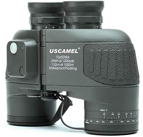 GXT 10x50 HD Binoculares Militares con telescopio de brújula de telescópica, óptica Deportiva Impermeable Verde práctico