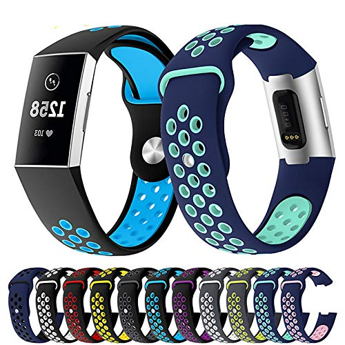 Correa de Reloj de Gel de sílice para Fitbit charge3 17 cm / 6,69 Pulgadas / 21 cm / 8,27 Pulgadas 1,8 cm / 0,7 Pulgadas