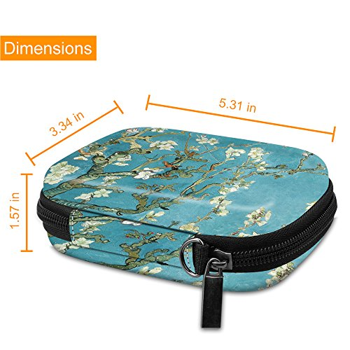 Fintie Carrying Case Compatible with HP Sprocket Photo Printer - Hard EVA Shockproof Storage Portable Travel Bag w/Inner Pocket, Removable Strap and Metal Hook (Vintage Brown)