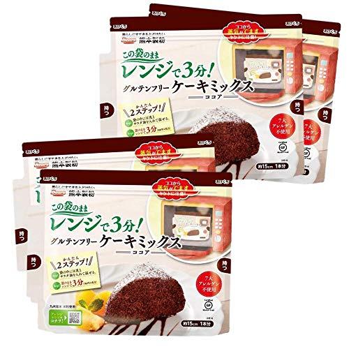 グルテンフリーケーキミックスココア【4個セット】80g×4袋セット 熊本製粉