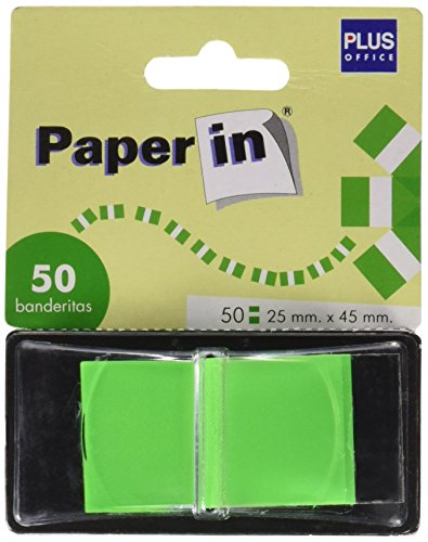 Plus Office Paper in dispenser voor 50 vlaggen, groen