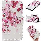 Samsung Galaxy S8 専用ケース 手帳型 キラキラ 3Dの視覚 ピンク 花柄 ギャラクシーsc-02jスマ……