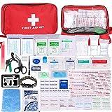 Botiquín de Primeros Auxilios de 200 Piezas,con Hielo, Manta de Emergencia,Máscara de RCP,...