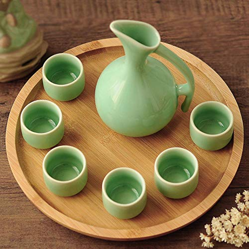 BWM keramische wijn Cup sets Whiskey en Brandy kopjes drank Cup sake cup Home Bar Hotel Party Drinking ware,6cups 1pot 1tray