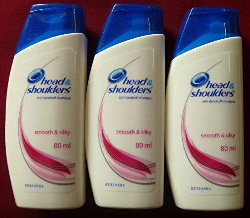 3 X Head & Shoulder Anti-dandruff Shampoo Smooth and Silky Hair 80ml X 3 = 240ml by Head & Shoulder