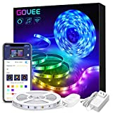 Govee Smart WiFi LED Strip Lights Works with Alexa, Google Home Brighter 5050 LED, 16 Million Colors Phone App...