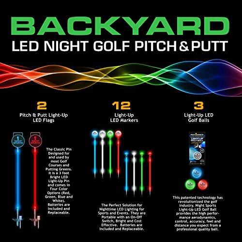 Why Choose Night Sports Pro Series One Hole LED Night Golf Assortment