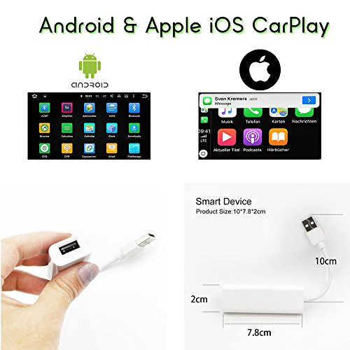 TAFFIO® USB Android Auto & USB Apple Carplay USB Adaptor + Android Betriebssystem App.