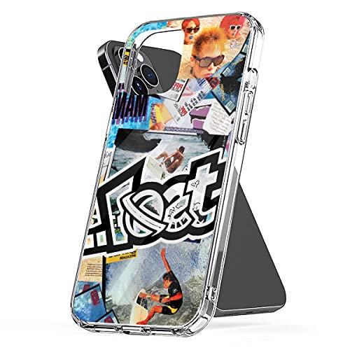 Lost Surf Media Fundas de teléfono para iPhone 12/11 Pro MAX Pure Clear 12 Mini SE X/XS MAX XR 8 7 6 6s Plus Funda