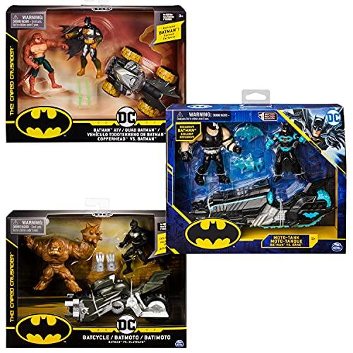 DC Comics BATMAN, Batcycle Vehicle with Exclusive BATMAN and CLAYFACE...