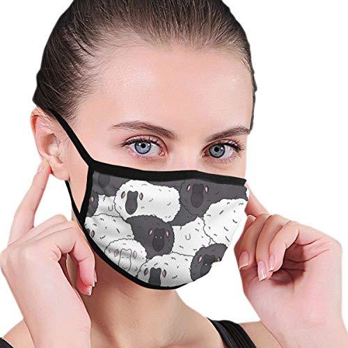 Mundschutz Gesichtssch Schwarzweiss-Schafe Männer 'Frauen' Print Fashion Waschbarer wiederverwendbarer Mundschutz für öffentliche Plätze