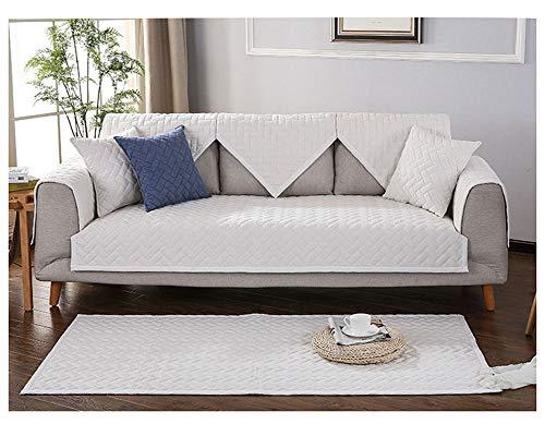 ZIXING Fashion Invierno Sofá Protector Fundas de sofá, Protector de Muebles Moderno Antideslizante Cubre para Sofá Beige 70 * 240cm