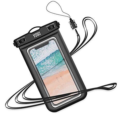 YOSH wasserdichte Handyhülle Unterwasser Handyhülle für iPhone 11/11 pro/Xs Max/Xs/XR/X/ 6 7 8 Samsung S10/ S9/ S8 Huawei Staub-, schmutz-, schneegeschützte Hülle bis zu 6,1 Zoll (schwarz)