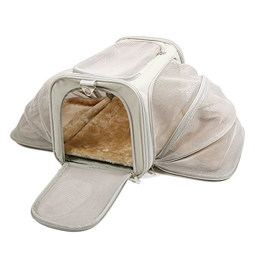 Jet Sitter Airline Approved Expandable Pet Dog Cat Carrier - Soft Sided Carriers Cats Dogs Travel...