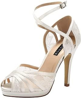 ERIJUNOR Womens D'Orsay Lace High Heel Sandals