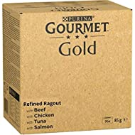 Variety Gourmet Wet Cat Food Jumbo Pack 96 X 85g For Adult Cats In Refined Ragout Of Beef, Chicken, ...