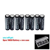 8Pcs 18650B Button Top Storage Holder Case Kit for LED Flashlight Torch etc