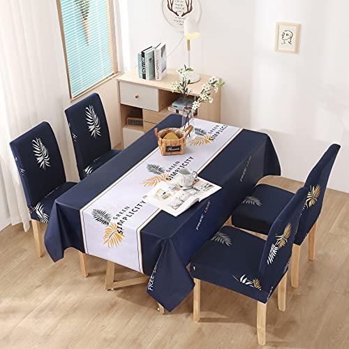 XXDD Mantel Impermeable Mantel y Cubierta de Silla combinación Mantel de Restaurante Hotel Hogar Cocina decoración A3 150x210cm