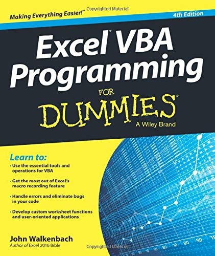 Excel Vba Programming For Dummies, 4e