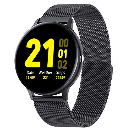 BNMY Smart Watch Fitness Tracker con Monitor De Frecuencia Cardíaca/Sueño 1.3 '' HD Smartwatch Notificación De Llamada De Mensaje Reloj Deportivo Al Aire Libre para Android iOS,E